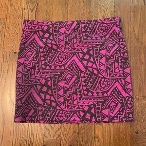 💜Forever 21 Patterned Mini Skirt